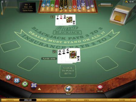 Microgaming Blackjack Game